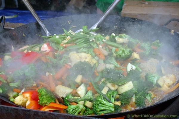 Melbourne Art Festival vegatble wok