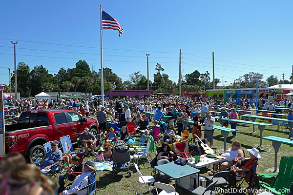 The crowd at the Grant Seafood festival