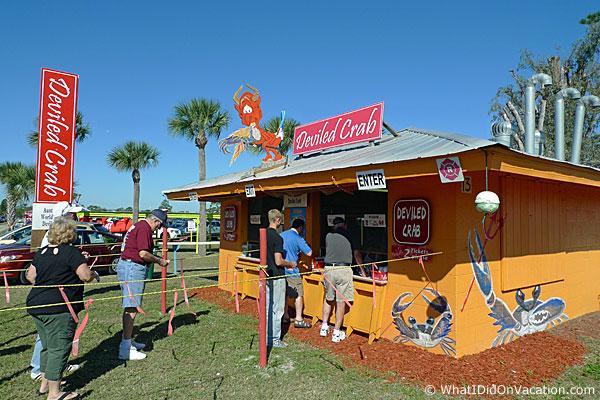 Grant Seafood Festival deviled crab shack