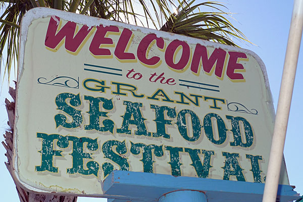 Grant Seafood Festival sign