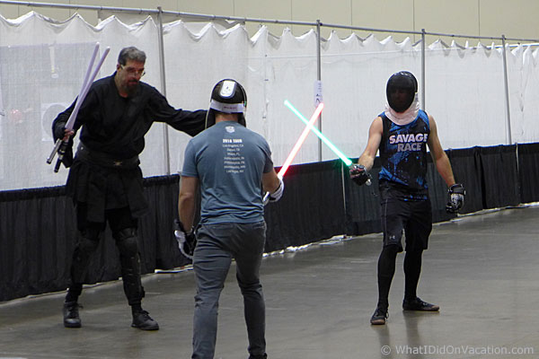 fencing and light sabers europa games orlando 2019