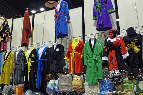 Superhero bathrobes at MegaCon