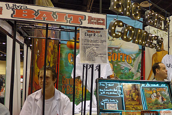 Big City Comics booth at MegaCon