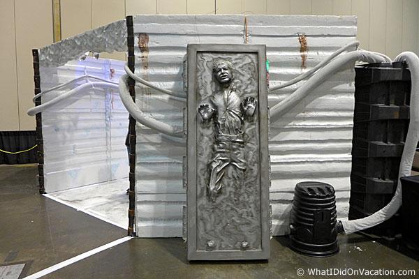 MegaCon 501st Han encased in carbonite