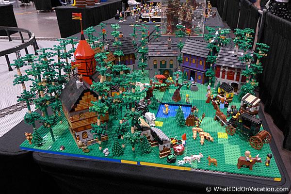 MegaCon legos forest scene