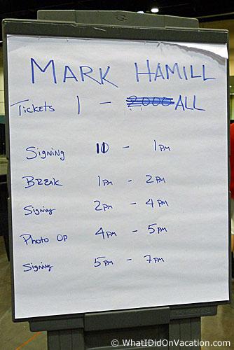mark hammills autograph schedule