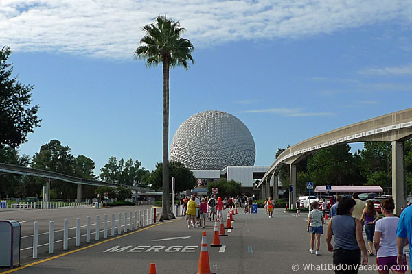 EPCOT Entrance walk