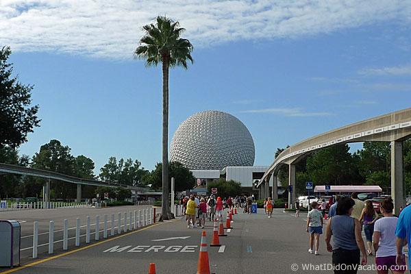 EPCOT Entrance walk