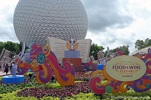 EPCOT Food & Wine Festival cut outs