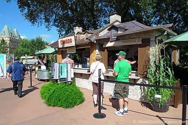 epcot food and wine festival canada kiosk