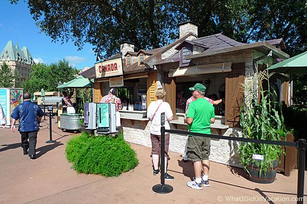 epcot food and wine festival canada kiosk