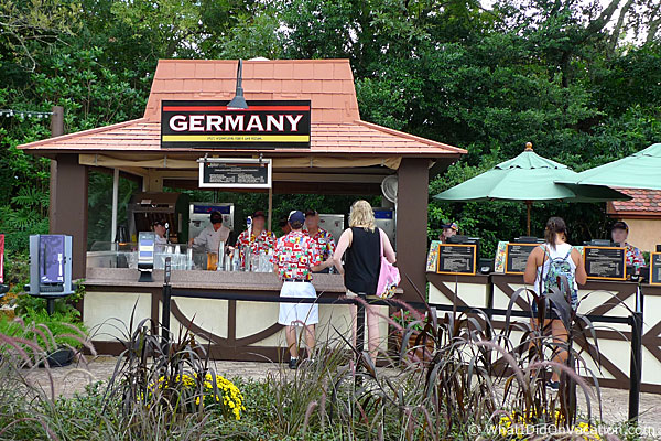epcot food and wine festival germany kiosk