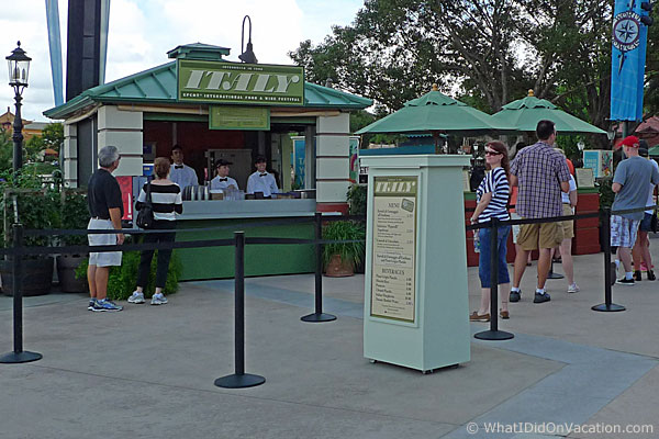 epcot food and wine festival italy kiosk