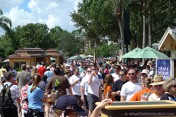 epcot food and wine festival more crowds