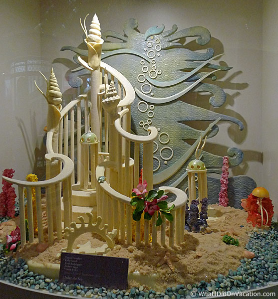 under the sea sculpture chocolate