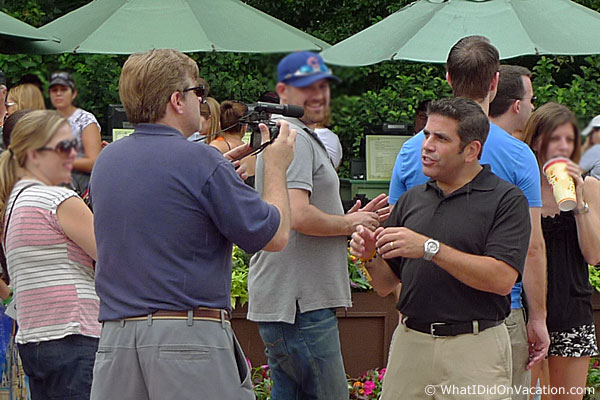 video blogger at epcot food and wine festival
