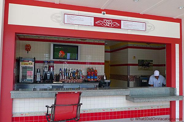 backstretch pool snack bar
