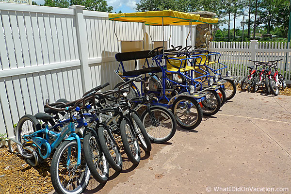 bike rentals at Saratoga Springs