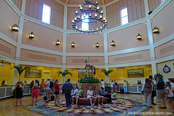Check in area of the Saratoga Springs resort