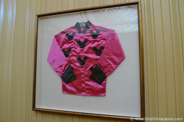 jockey shirt on wall