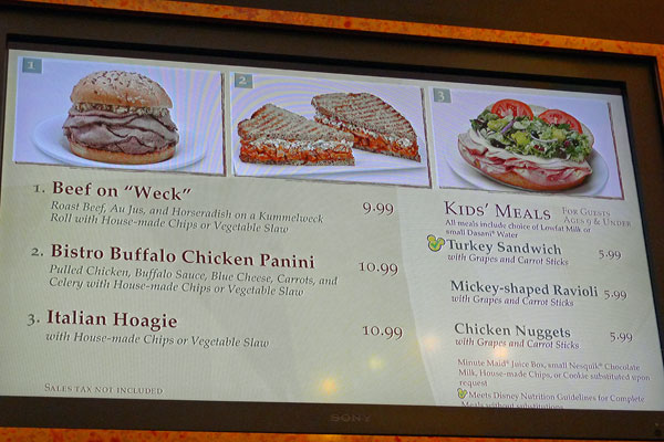 food court menu one