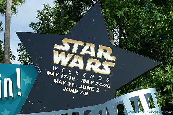 star wars weekends sign