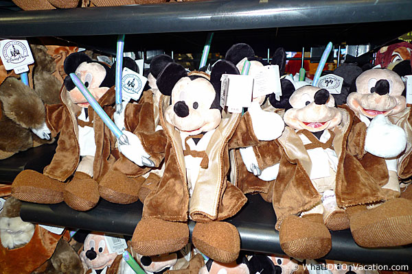stuffed mickey as a jedi