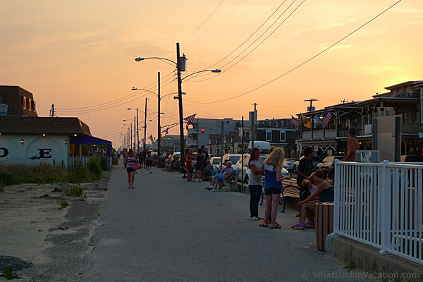 Cape May beach promenade