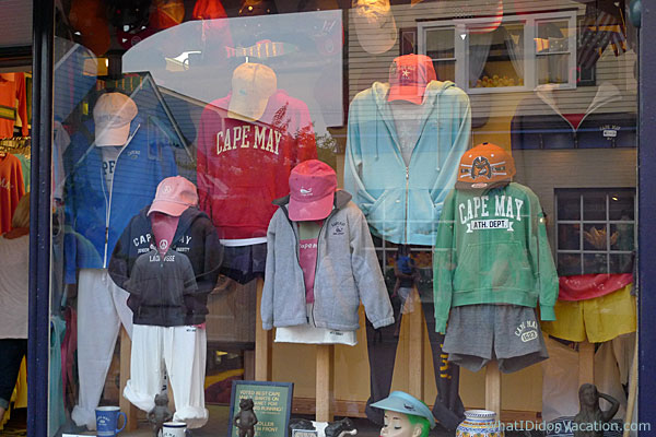 Cape May sweatshirts and hats