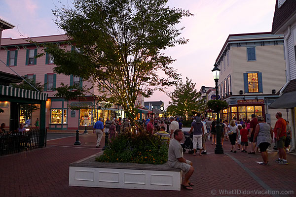 Dusk at the Washington street mall