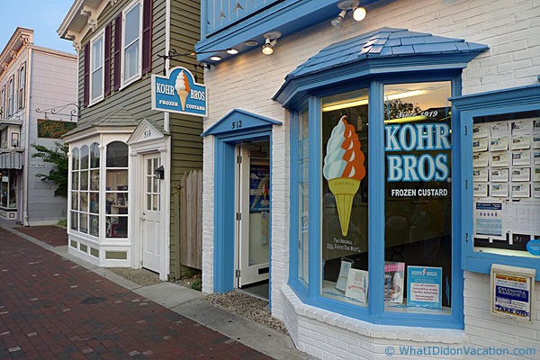 Cape May Kohr Bros frozen Custard