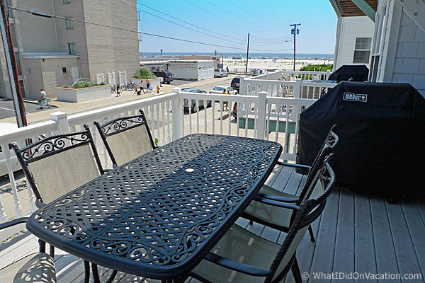 Wildwood Crest townhouse deck