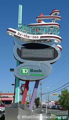 Wildwood TD Bank doo wop sign
