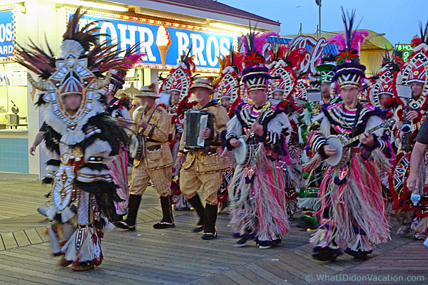 mummers on the Wildwood Boardwalk
