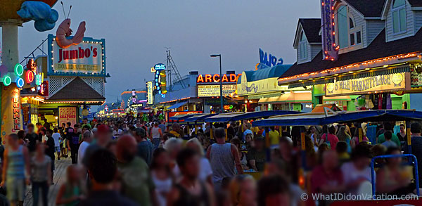 The Wildwood Boardwalk Night