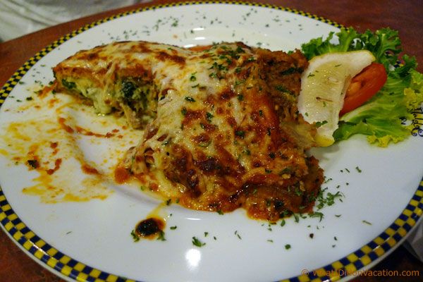 Eggplant at the Little Italy Restaurant