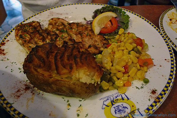 Grilled Chicken Cutlet at the Little Italy Restaurant