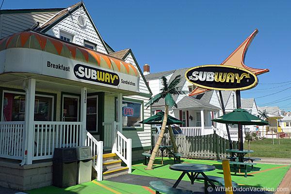 Wildwood Subway restaurant