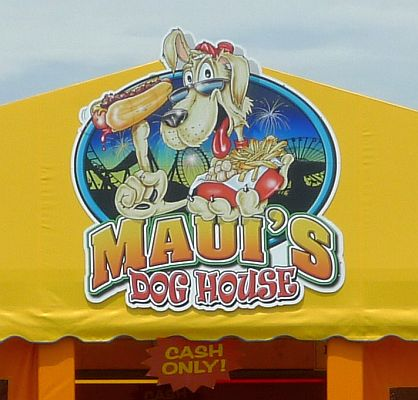 Maui's Dog House Wildwood sign