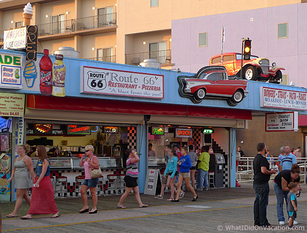 Route 66 restaurant on the Wildwood Boardwalk