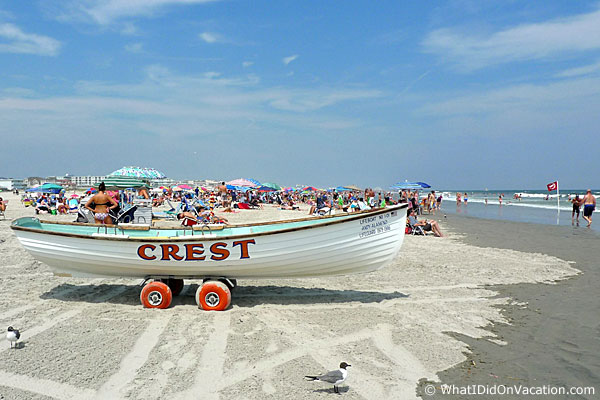 lounging on the Wildwood Crest beach