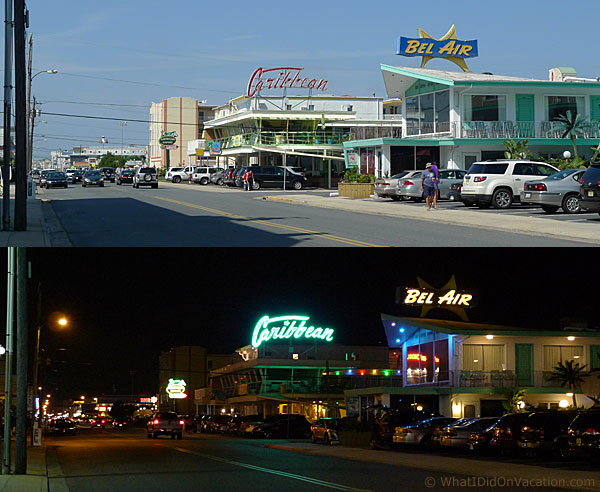 Wildwood Crest day and night