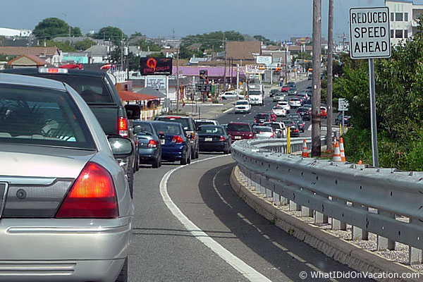 traffic entering Wildwood New Jersey